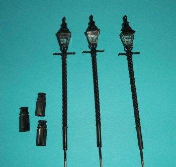 Item Code BT1 - Barleytwist Lampposts - Pack of 3